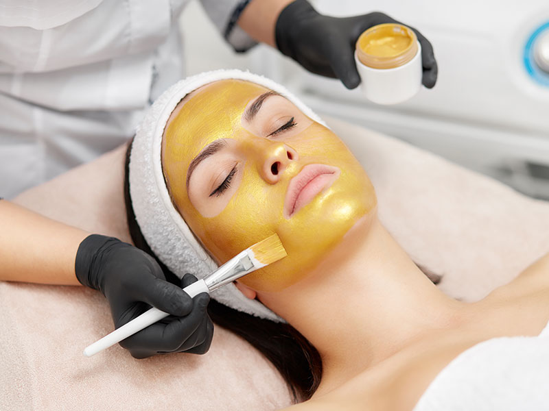 24k Gold Facial Application