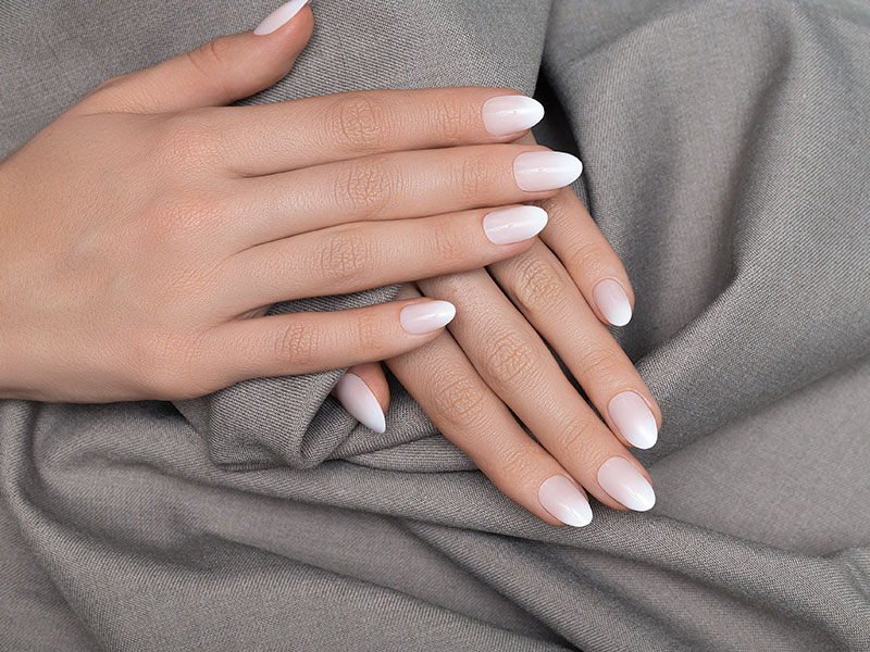 White Gel Nails At Beauty School