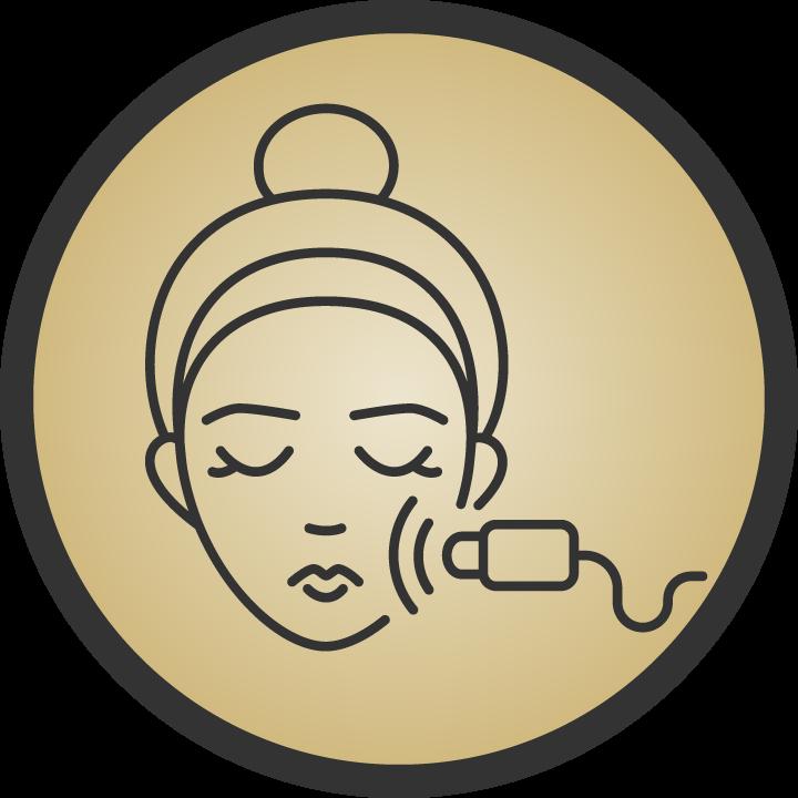 Feather Laser Facial Icon