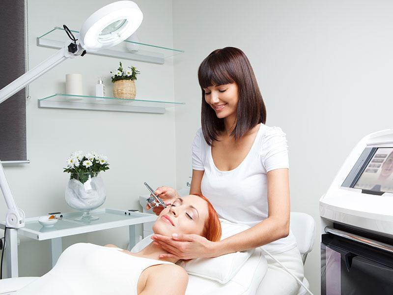 Oxygen Facial Treatment In Progress