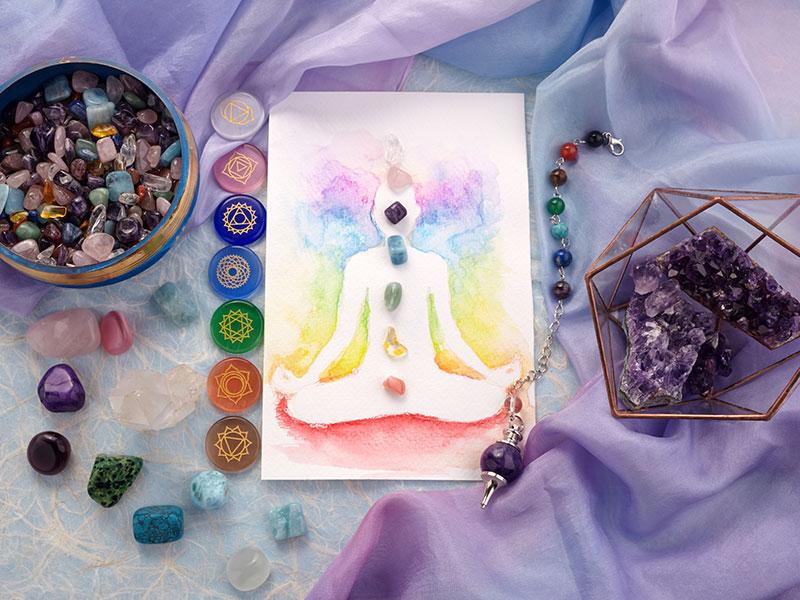 Reiki Healing Crystals And Chakra Chart