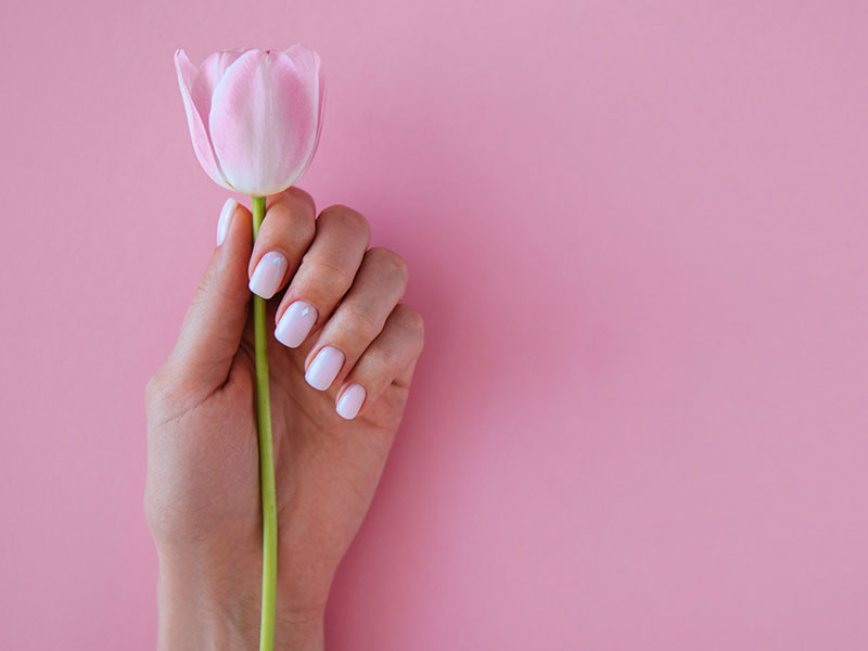 Spa Manicure & Pedicure With Flower