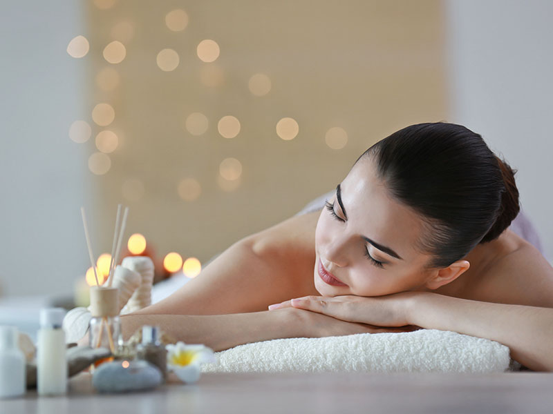 Woman Waiting For Spa Massage Therapy