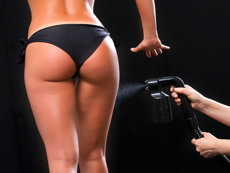 Spray Tanning On Butt