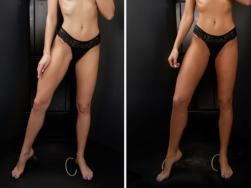 Spray Tanning Before And After